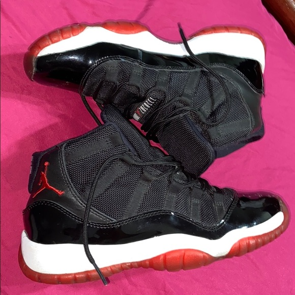 Jordan Shoes   Bred 11s Black And Red